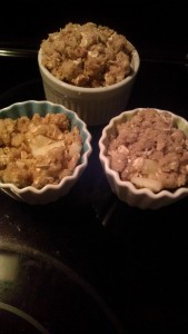 finished apple crisp