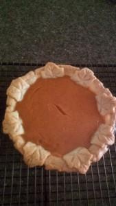 finished leaf pie
